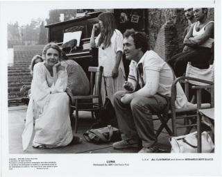 La Luna (Original photograph from the set of 1979 film). Bernardo Bertolucci, Giuseppe Bertolucci...