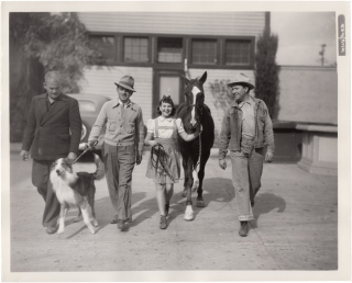 Checkers (Three original photographs from the set of the 1937 film). H. Bruce Humberstone, Karen...