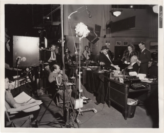 News is Made at Night (Original photograph from the set of the 1939 film). Alfred L. Werker, John...