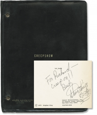 Creepshow (Original screenplay for the 1982 film, signed by Stephen King). George A. Romero,...