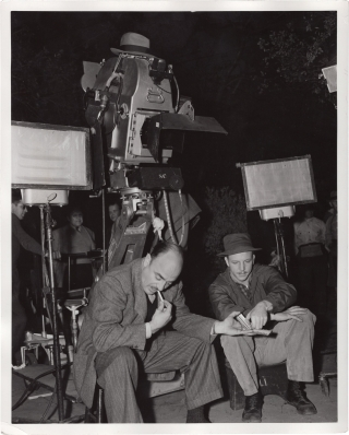 Mokey (Original double weight photograph from the set of the 1942 film). Wells Root, Jennie...