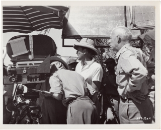 Land of the Pharaohs (Three original photographs from the set of the 1955 film). Howard Hawks,...