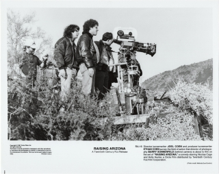 Raising Arizona (Two original photographs from the set of the 1987 film). Joel Coen, Ethan Coen,...