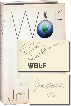 Wolf (First Edition, inscribed to fellow author Chris Offutt). Jim Harrison