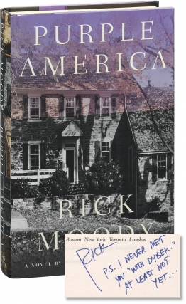 Purple America (Signed First Edition). Rick Moody