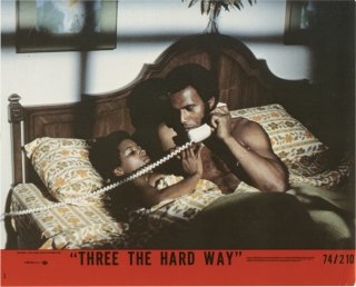 Three the Hard Way (Collection of seven lobby cards from the 1974 film). Gordon Parks Jr.,...