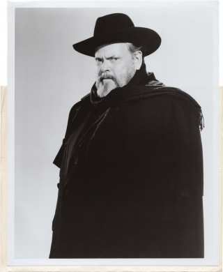 F for Fake (Original promotional photograph of Orson Welles for the 1973 film). Orson Welles,...