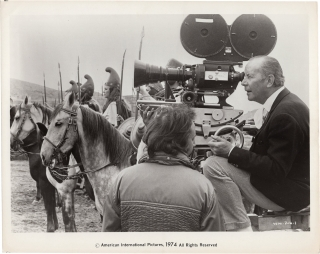 The Amazons [The War Goddess] (Original photograph from the set of the 1973 film). Terence Young,...