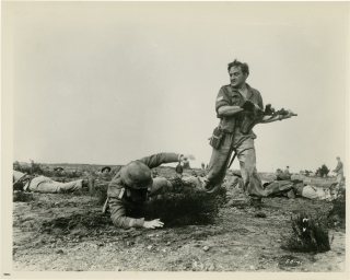 The Steel Bayonet (Collection of 5 original photographs from the 1957 film). Michael Carreras,...