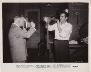 Beyond a Reasonable Doubt (Original photograph of Dana Andrews on the set of the 1956 film)....