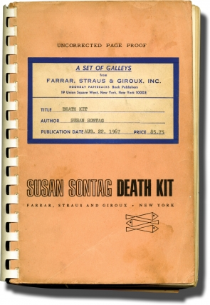 Death Kit (Uncorrected Proof, with annotations). Susan Sontag