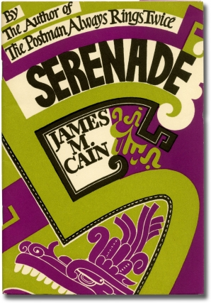 Serenade (Publisher's prospectus for the First Edition). James M. Cain