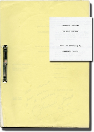 The Fourth Protocol (Original screenplay for the 1987 film, signed by novelist-screenwriter...
