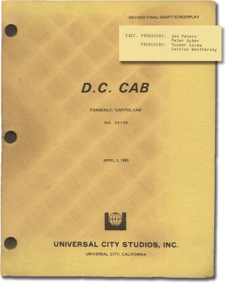 DC Cab [D.C. Cab, Capitol Cab] (Archive of three original screenplays for the 1983 film,...