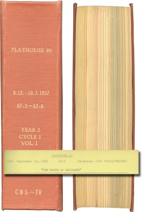 Playhouse 90: Year Two, Cycle One, Vol. One (Original screenplays for the 1957 television show)....