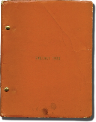Sweeney Todd: The Demon Barber of Fleet Street (Original playscript for the 1973 play)....