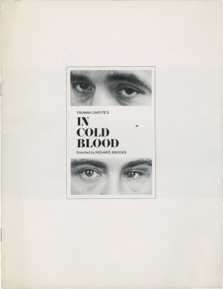 In Cold Blood (Original program from the 1967 film). Richard Brooks, Truman Capote, Scott Wilson...