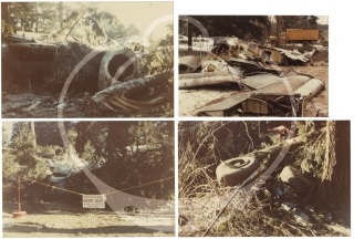 Collection of 63 photographs of the crash of United Airlines Flight 173