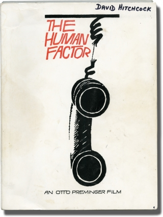 The Human Factor (Original screenplay for the 1979 film). Otto Preminger, Graham Greene Tom...