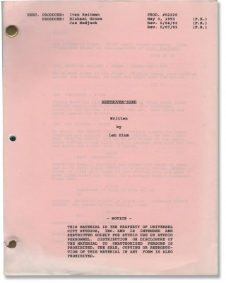 Beethoven's 2nd (Original screenplay for the 1993 film). Rod Daniel, John Hughes, Amy Holden...