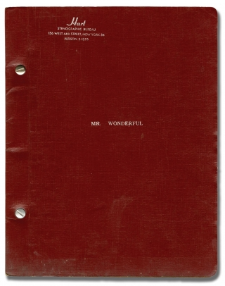 Mr. Wonderful (Original script for the 1956 musical). Sammy Davis Jr., Will Glickman Joseph...