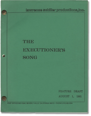 The Executioner's Song (Original screenplay for the 1982 film). Lawrence Schiller, Norman Mailer,...