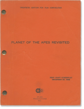 Beneath the Planet of the Apes [Planet of the Apes Revisited] (Original screenplay for the 1970...
