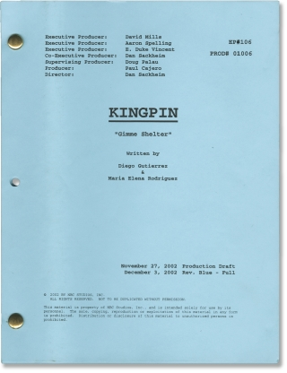 Kingpin: Gimme Shelter (Original screenplay for the 2003 television series). Dan Sackheim, Maria...