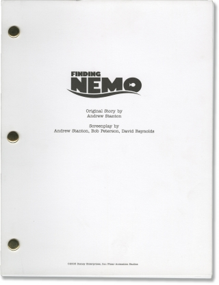 Finding Nemo (For Your Consideration screenplay for the 2003 film). Andrew Stanton, David...