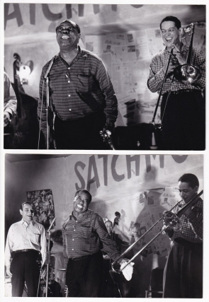 Auf Wiedersehen (Collection of 4 original photographs from the 1961 film). Louis Armstrong,...