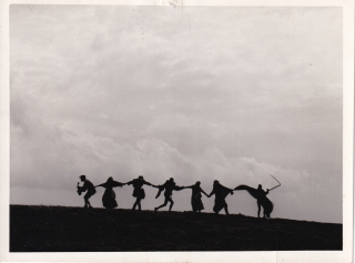 The Seventh Seal (Original photograph from the 1957 film). Ingmar Bergman, Gunnar Bjornstrand Max...
