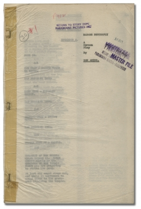 Madame Butterfly (Original screenplay for an unproduced film). Zoe Akins, screenwriter