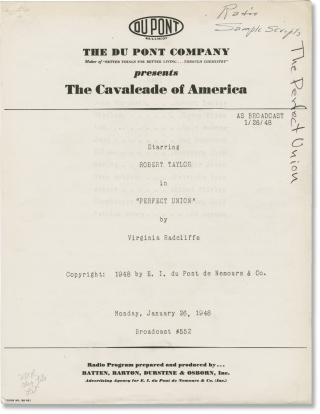 The Cavalcade of America: A Tooth for Paul Revere (Original script for the 1948 radio broadcast)....