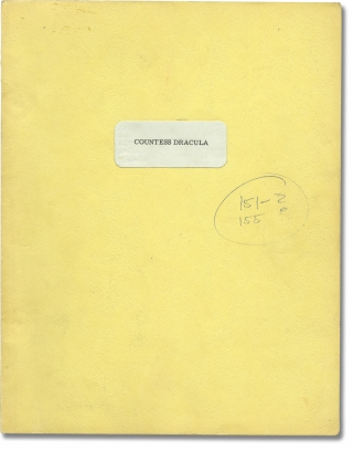 Countess Dracula (Original screenplay for the 1971 film, Ingrid Pitt's annotated copy). Peter...