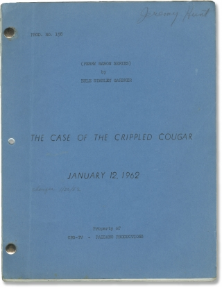 Perry Mason: The Case of the Crippled Cougar (Original screenplay for an episode of the 1961-1962...