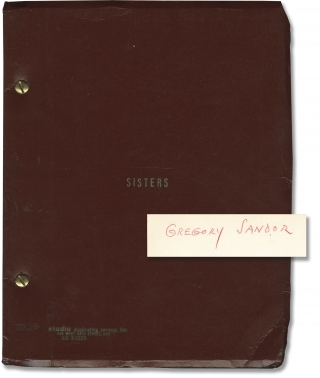 Sisters (Original screenplay for the 1973 film). Brian De Palma, Louisa Rose, Jennifer Salt...