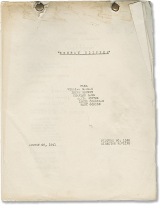 Bombay Clipper (Original post-production screenplay for the 1942 film). John Rawlins, Stanley...