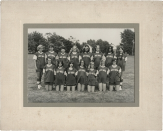 Two original photographs of Ohio girl's softball teams, circa 1970s. Americana, Baseball, Little...