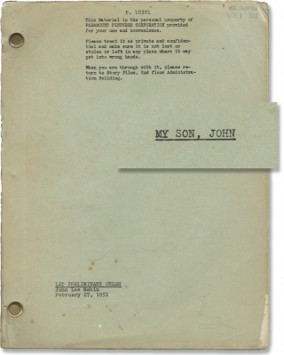 My Son John [My Son, John] (Original screenplay for the 1952 film). Leo McCarey, John Lee Mahin,...