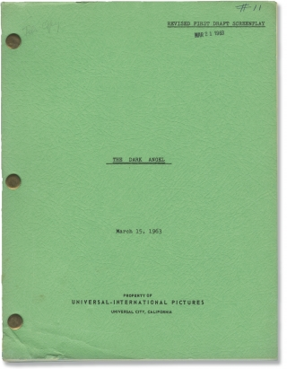 The Dark Angel (Original screenplay for an unproduced film). John Lee Mahin, screenwriter