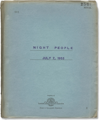 Night People (Original screenplay for the 1954 film). Nunnally Johnson, Broderick Crawford...