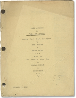 See My Lawyer (Original screenplay for the 1943 film). Edward Cline, Howard Snyder Hugh Wedlock,...