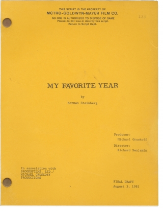 My Favorite Year (Original screenplay for the 1982 film). Richard Benjamin, Norman Steinberg,...