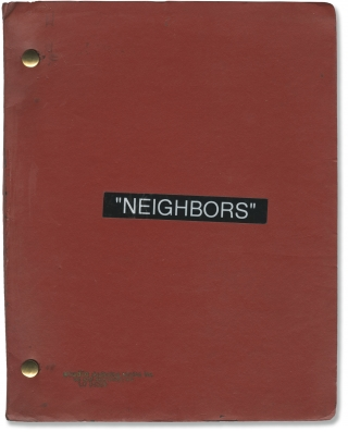 Neighbors (Original screenplay for the 1981 film). John G. Avildsen, Thomas Berger, Larry...