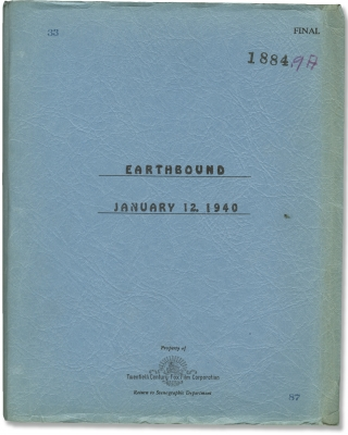 Earthbound (Original screenplay for the 1940 film). Irving Pichel, Samuel G. Engel Basil King,...
