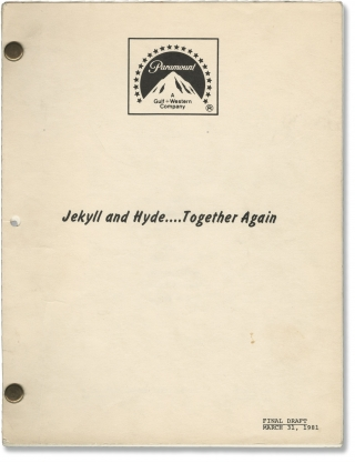Jekyll and Hyde... Together Again (Original screenplay for the 1982 film). Jerry Belson, Robert...