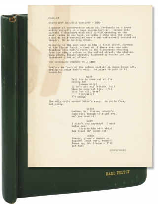Untitled typescript screenplay for an unproduced film. Earl Felton, screenplay