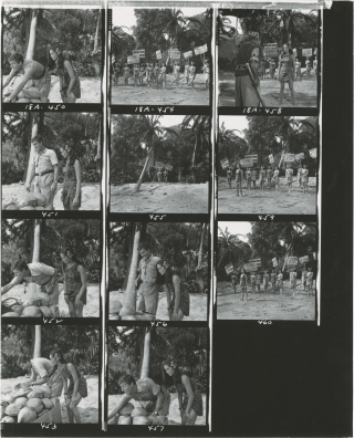 Lt. Robin Crusoe USN (Collection of 108 original contacts sheets with approximately 1100 images...