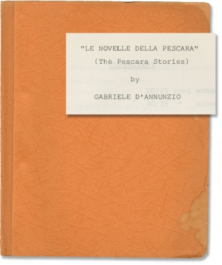 Le Novelle Della Pescara [The Pescara Stories] (Original screenplay for an unproduced television...