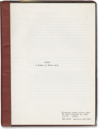 Iffie (Original screenplay for an unproduced film). Steven James Silva, screenwriter